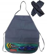 Фартук д/труда с 2 карманами + нарукавники Авто и клетчатый флаг ФН-0930