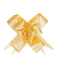 Бант Бабочка №3 рис цветы на желтом