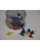 Кнопки силовые треугольник 60шт  цветные