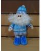 Мягкая бело-синяя Дед мороз 23см. 687301