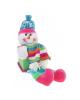 Мягкая цветная Снеговик коробочка 23см. 535404