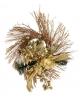 Венок рождественский золото 30см.золото пуансетия