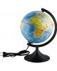Глобус Земли д-р 210 физический рельефный с  подсветкой