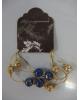 Браслет Натурель 3 ряда цвет сине-коричневый 108060