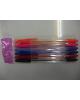 Ручка шар /набор 6шт/ корпус прозр. с цвет. колп. в блистере 641078