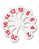 Касса-веер цифр от 1 до 20 ВК05 Стамм 1/36