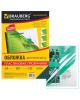 Обложки д/переплета BRAUBERG комплект 100шт А4 пластик  150г/прозрачн-зеленые 530828
