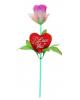 Светильник 'Роза I love you' 32см микс 833365