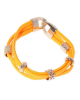 Браслет Миндора кольца ораньжевый неон 163188