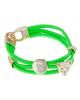 Браслет Миндора ягуар зеленый неон 163198
