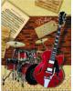 Дневник д/музык.школы Красная гитара и барабаны 37834