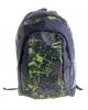 Рюкзак Дизайн 1отд. 2кар черно зеленый 1007616