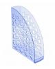 Лоток вертикальный Вега тонированный голубой ЛТ574