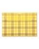 Папка -конверт на кнопке A4 Бюрократ РК801Аyel с/рис Клетка пластик желтый 816627