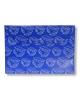Папка -конверт на кнопке A4 с/рис Листочки синий PK813Nblu