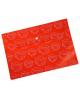 Папка -конверт на кнопке A4 с/рис Листочки, Ромашки глянец оранж PK813Nor