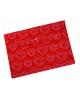 Папка -конверт на кнопке A4 с/рис Листочки непроз красный PK813Nred 816681