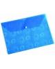 Папка -конверт на кнопке A4 Ромашки 0,18 синий PK820blu