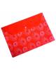 Папка -конверт на кнопке A4 Ромашки 0,18 красный PK820red