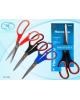 Ножницы 21,5см пластик ручки, рез.вставки МС-501/240