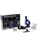 Микроскоп цвет, 8 стекол, 2 баночки, пластик от батареек 594761