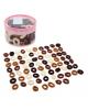 Набор резинок махрушек в тубе (72шт) шоколад  1060681