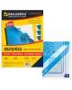 Обложки д/переплета BRAUBERG комплект 100шт А4 пластик  200мкм/прозрачн-синие 530830