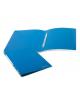 Папка с пластиковым скоросшивателем BRAUBERG бюджет синяя до 100л. 0,5мм 222644