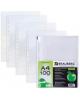 Папки-файлы перфорированные BRAUBERG комплект 50шт. А3 гладкие яблоко 0,035мм 211715