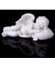 Сувенир полистоун 'Ангелочек спящий с сердечком' 2,5*6,5*3см 162022
