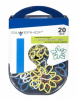 Скрепки фигурные Цветок 20шт металл в пласт.оплетке 493002 420-0276