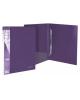 Папка с пружин.скоросшивателем 20мм 700мкм фиолетовый 282701-09