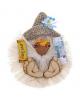 Оберег 'Домовой Деньжатник с бумажным лицом на магните' БЛК-2 11*10*3см 476696