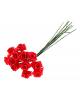 Декор для творчества 'Красная роза'в букетике 12цветов 865393
