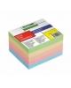Блок для заметок 6*5*4 цветной проклеенный Офис БЗ22