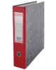 Папка-регистратор 70мм мрамор, с карманом красная нижний метал кант 70503