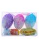 Сувенир яйцо блестка перелив 3шт 5*7см, 4 шт 3,4 см (набор 7шт) 114832