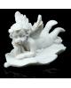 Сувенир полистоун Белоснежный ангел спящий на листе микс 3*6,3*3,5см 610499