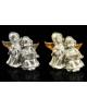 Сувенир полистоун Ангелочки под бронзу с золотыми крыльями 6*6,5см 1149285