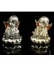 Сувенир полистоун Письмена под бронзу с золотыми крыльями 7,5*5,5см 1149287