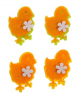 Наклейки декор фетровые Цыплята 4шт 1215244