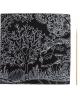 Гравюра Загадочный сад №15 с цветное основание оборот раскраска штихель 1243425