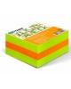 Блок для заметок 6*6*3 NEON (2цв. зеленый,оранжевый) проклеенный БЗ73