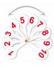 Касса (веер) от 1 до 20 прямой и обратный счет ВК15
