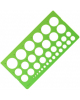 Трафарет окружности 1-36мм зеленый СТАММ ТТ21