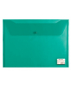 Папка -конверт на кнопке A4 Brauberg 0.15мм зеленая 221635  /15/