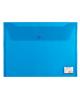 Папка -конверт на кнопке A4 Brauberg 0.15мм синяя 221637  /15/