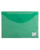 Папка -конверт на кнопке A4 Staff 0,12мм зеленая 225171 /25/