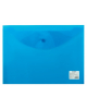 Папка -конверт на кнопке A4 Staff 0,12мм синяя 224623 //25/