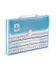 Портфель 13 отд. А4 пластик с ручкой, на замке МИКС цв.Морской 1026538
